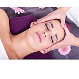 Young Woman, Wellness & Relax, Facial Massage
