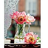 Decoration, Flower vase, Still life, Peony