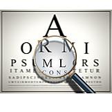 Magnifying glass, Magnification, Eye test, Eye exam