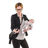 Mutter, Geschäftsfrau, Alleinerziehend, Stress & Belastung