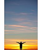 Glücklich, Freiheit & Selbständigkeit, Himmel, Mensch