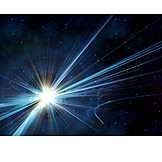 Light, Star, Radiation, Space