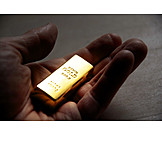 Hand, Investment, Precious Metal, Gold Bars