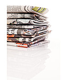 Media, Newspaper, Stack, Newspaper, Print