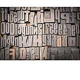 Letter, Typography, Print, Sort Set