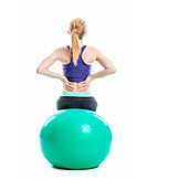 Young woman, Back exercises, Triceps working