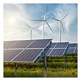 Energie, Windrad, ökostrom, Solar