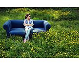Teenager, Garden, Environment