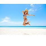 Lebensfreude, Luftsprung, Strandurlaub