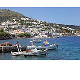 Coastal town, Leros