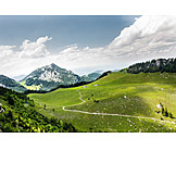 Mountain range, European alps, Bavaria, Wendelstein