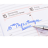 Organizer, Date, Physical Therapy