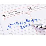 Terminkalender, Termin, Physiotherapie