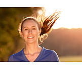 Young Woman, Sports & Fitness, Active, Running