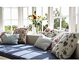 Comfortable, Sofa, Window seat