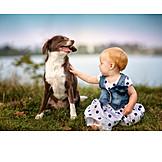 Baby, Dog, Animal Love