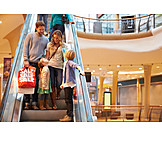Einkauf & Shopping, Familie, Einkaufsbummel, Rolltreppe