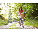 Young Woman, Woman, Bicycle, Cyclist