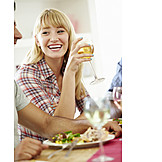Young Woman, Eating & Drinking, Eating