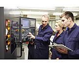 Ausbildung, Maschine, Auszubildende, Ausbilder, Metallindustrie, Industrie-pc