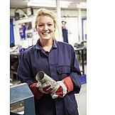 Woman, Industry, Apprentice, Workshop, Metal Industry