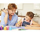 Grandmother, Fun & Games, Painting, Creativity
