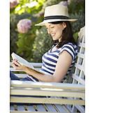 Woman, Leisure, Reading