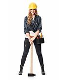 Handywoman, Sledgehammer, Craftsperson female
