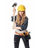 Delve, Handywoman, Sledgehammer, Building worker