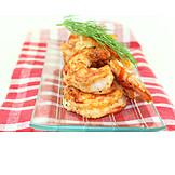 Meeresfrüchte, Garnelen, Shrimps