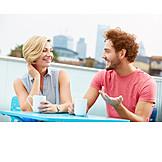 Woman, Man, Meeting & Conversation