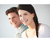 Paar, Lachen, Sorglos & Entspannt