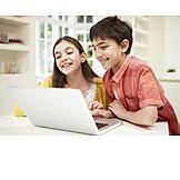 Child, Laptop, Internet, Siblings