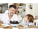 Grandson, Grandfather, Eating & Drinking