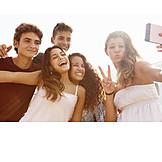 Freunde, Smartphone, Selfie