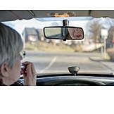 Gefahr & Risiko, Straßenverkehr, Autofahrerin