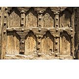 Close Up, Ornaments, Wooden Door