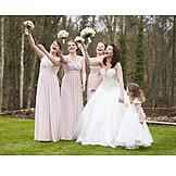 Wedding, Bridal Bouquet, Bridesmaid