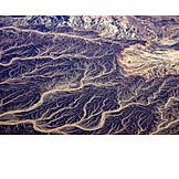 Aerial View, Stream, River, River Delta, Gulf Of Suez