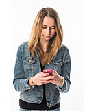 Teenager, Mobile Phones, Chatting, Sms