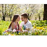 Couple, Loving, Spring fever