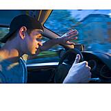 Gegenlicht, Gefahr & Risiko, Autofahrer, Blenden