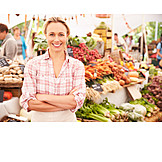 Market woman, Sales executive, Vegetable market, Greengrocer