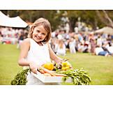 Child, Girl, Vegetable, Garden party