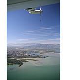 Luftaufnahme, Bodensee, Naturschutzgebiet, Rheindelta