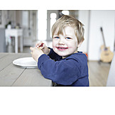 Toddler, Boy, Child, Eating