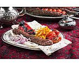Türkische Küche, Lammfleisch, Adana Kebap