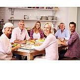 Eltern, Essen, Familie, Großeltern