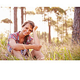 Young woman, Nature, Excursion, Rest