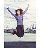 Geschäftsfrau, Business, Begeisterung